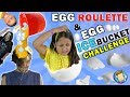 EGG ROULETTE CHALLENGE W Egg Ice Bucket Dump On Dallas The Pizza Guy FUNnel Vision