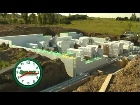 Insulated Concrete Forms Construction Time-Lapse