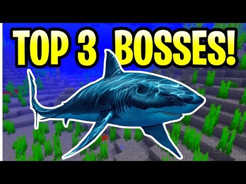 Minecraft TOP 3 UPDATE AQUATIC BOSSES! PE, Xbox, PS4 & Switch