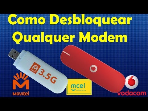 Como Desbloquear Modem 3.5G da Movitel e Vodacom por Completo