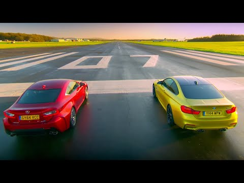 BMW M4 Coupé Vs Lexus RC F | Top Gear | Series 22 | BBC