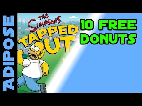 Simpsons Tapped Out-10 free donuts from Homer