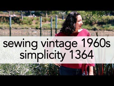 Sewing Vintage Simplicity 1364   Vintage on Tap