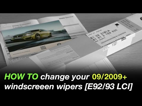 How to change your windscreen wipers [BMW E92/E93 2009-2013]