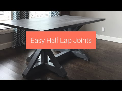Easy Half Lap Joints