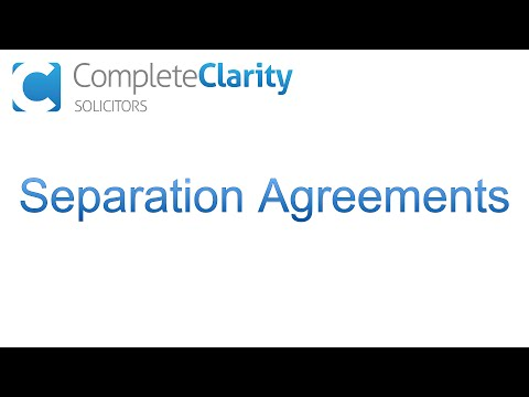 What is a Separation Agreement?