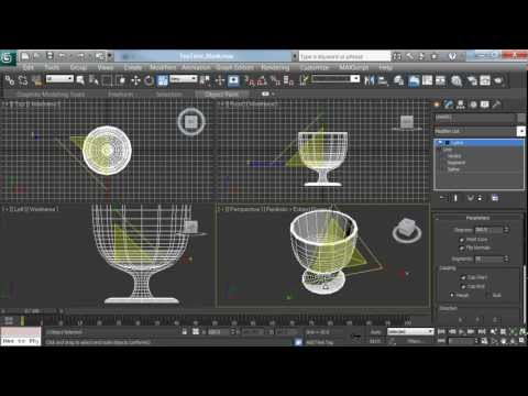 3ds Max Polygon Tea Cup Modeling Tutorial