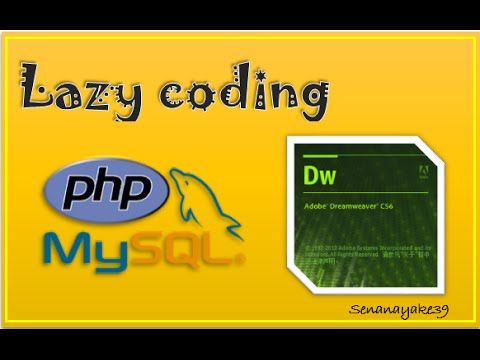 php login with mysql database - Dreamweaver - PART 1