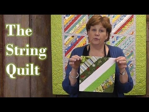 Quilting with scraps - Foundation Piecing to make the String Quilt!