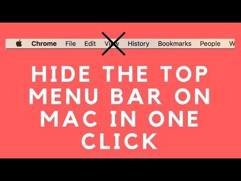 Hide top menu bar in Macbook & Chrome