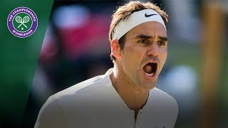 Roger Federer v Milos Raonic highlights - Wimbledon 2017 quarter-final