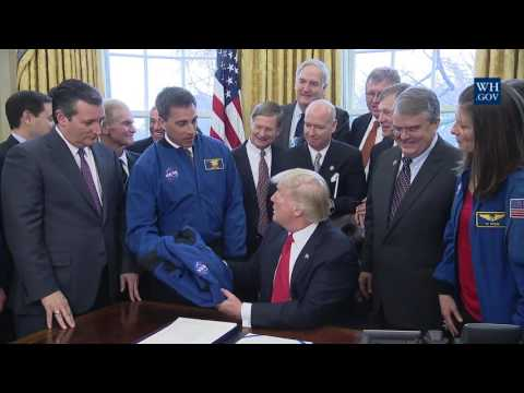 President Trump Signs Order S442 NASA Bill for Engineers and Astronauts Deep Space Exploration!!!