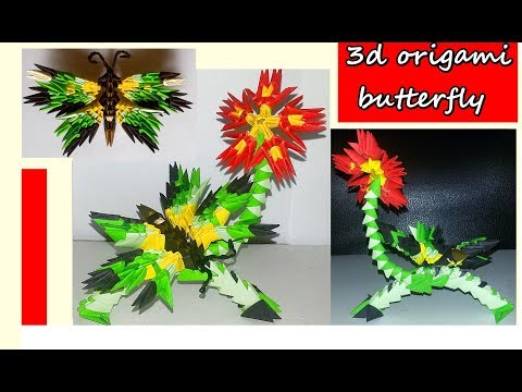 HOW TO MAKE 3D ORIGAMI BUTTERFLY.TUTORIAL