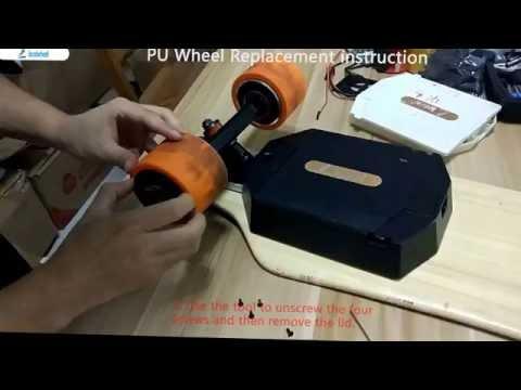 Landwheel electric skateboard replace the PU wheel