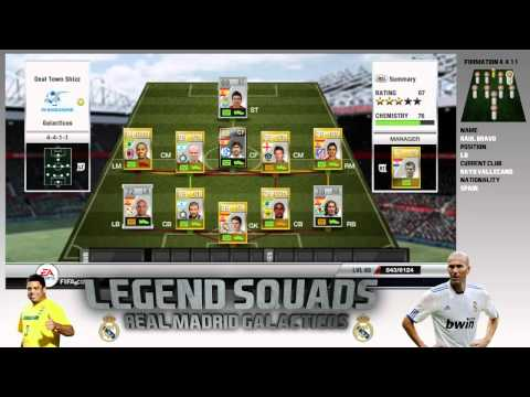 Fifa 12 Ultimate Team II Legend's Team II Real Madrid 'Galacticos' ft. Beckham, Raul and Casillas