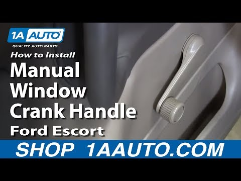 How To Install Replace Manual Window Crank Handle Ford Escort ZX2 ZX-2 1AAuto.com
