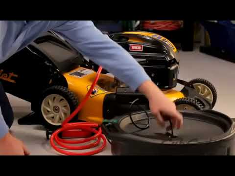 How to Change the Oil on a Cub Cadet Walk Behind Lawn Mower