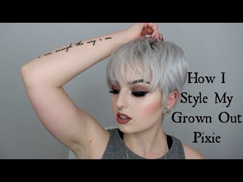 How I style my grown out pixie