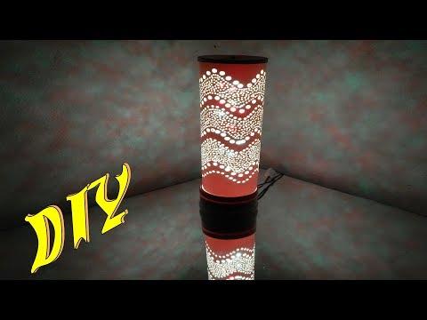 DIY Luminária de PVC Super Fácil de Fazer Tutorial passo a passo