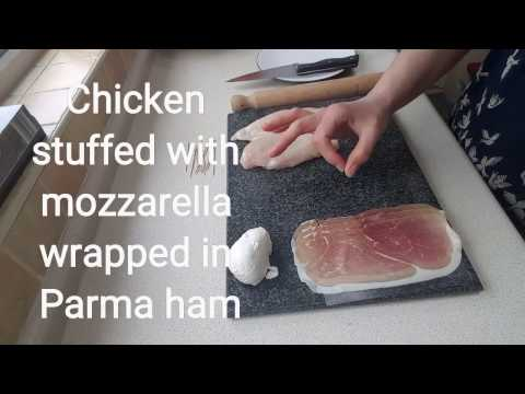 Stuffed Chicken Breast Wrapped in Parma Ham