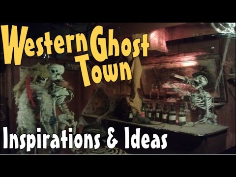 Halloween Decoration Ideas For Making Spooky Western Ghost Town Props & Facades