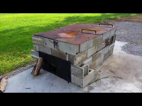 Cinder block Smoker