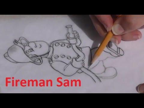 Draw Fireman Sam - in Chocolate