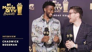 Chadwick Boseman Reacts to Award Wins & Tiffany Haddish