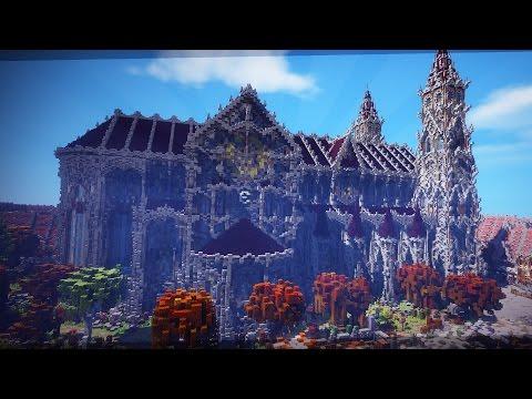 Minecraft Timelapse - Epic Cathedral - Mega Build   Ethyria.net