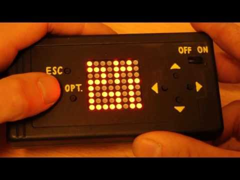 Arduino-powered game console with LED matrix display