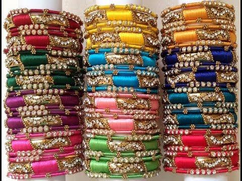 Best Collections Of Silk Thread Designer Bangles Jewellery