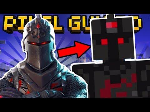 HOW TO MAKE FORTNITE SKINS in Pixel Gun 3D (Legendary Black Knight)