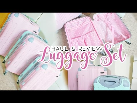 Cute Luggage Review | Rockland 3 Piece Sonic Upright Set