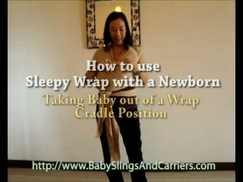 How to take baby out of a Sleepy Wrap Cradle Position