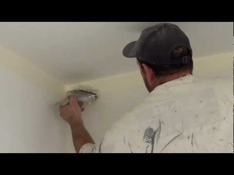 The Real Trick on how to paint a straight ceiling line using a 4 inch paint brush to cut in walls.