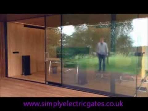Ingenious Glass Sliding Door - Simply Electric Gates 01252 513811