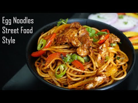 Chinese Egg Noodles Street Food Style - Spicy Chinese Egg Noodles Recipe
