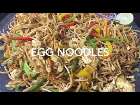 Spicy egg noodles in hindi