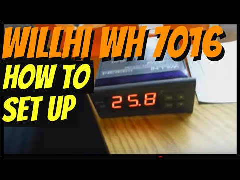 How to set up Willhi Wh 7016 temperature controller installation. DIY