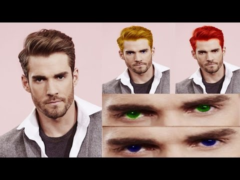 How to Change Hair Colour and Eye Colour in adobe photoshop 7.0 in [ Hindi / Urdu ].