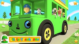 Green Wheels on the Bus | Kindergarten Nursery Rhymes & Songs for Kids