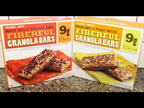 Trader Joe's Fiberful Granola Bars: Rolled Oats & Chocolate Chip/Rolled Oats & Peanut Butter Review