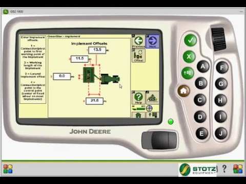 Greenstar1800 display AutoTrac AB Line