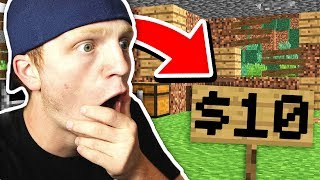 I BOUGHT THIS MINECRAFT WORLD FOR $10!