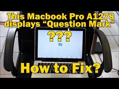 Macbook Pro A1278 Folder & Question Mark Fix