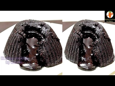 Eggless Molten Lava Chocolate Cake Without Oven | Yummy | Eggless Baking Without Oven
