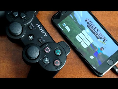 How To Play Minecraft PE With A PS3/PS4 Controller On iPhone - iPad - iPod Touch