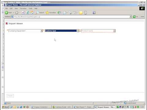 Cognos 10 Report Studio tutorial - cascading prompts