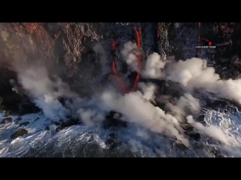 Hawaii getting bigger thanks to volcano eruption