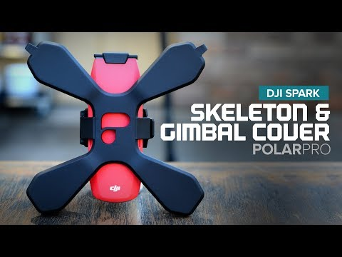 DJI Spark Skeleton Case and Gimbal Lock / Lens Cover by PolarPro
